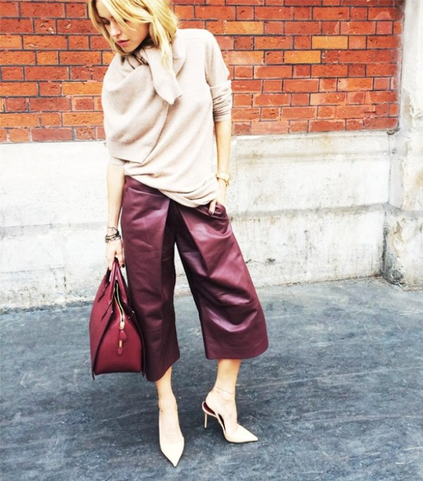 Picture Of fashionable and trendy ways to wear culottes this spring  18