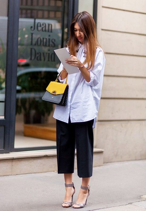 Picture Of fashionable and trendy ways to wear culottes this spring  2