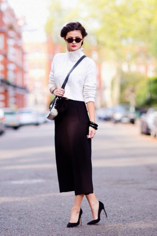 Picture Of fashionable and trendy ways to wear culottes this spring  20