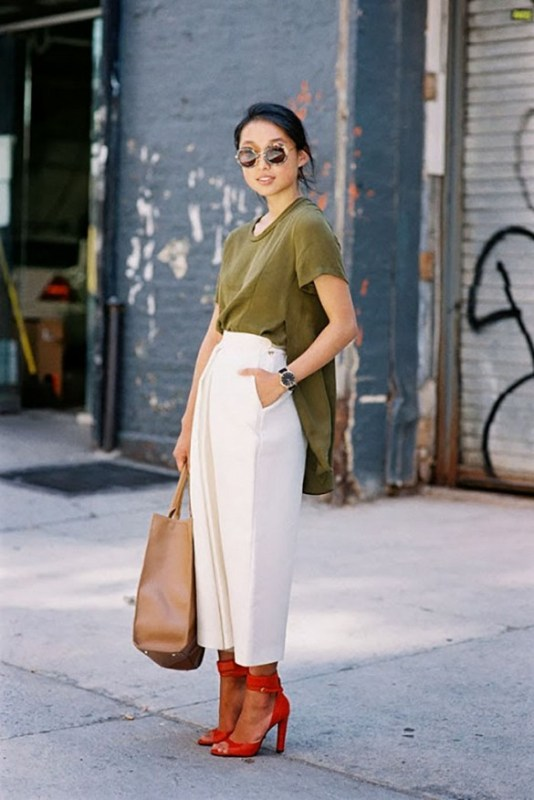 Picture Of fashionable and trendy ways to wear culottes this spring  21