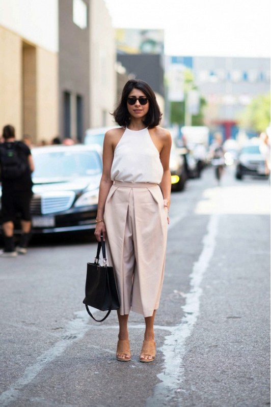 Picture Of fashionable and trendy ways to wear culottes this spring  22