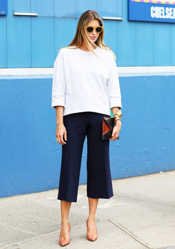Picture Of fashionable and trendy ways to wear culottes this spring  5