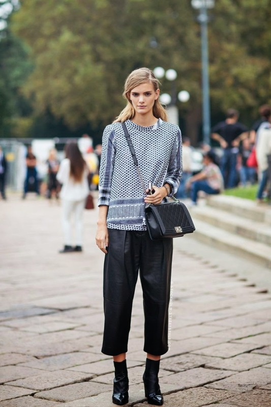 Picture Of fashionable and trendy ways to wear culottes this spring  7