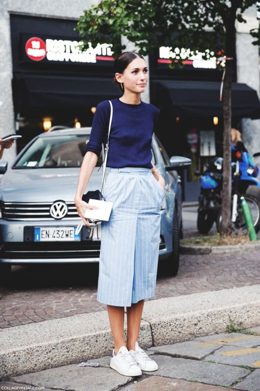 Picture Of fashionable and trendy ways to wear culottes this spring  8