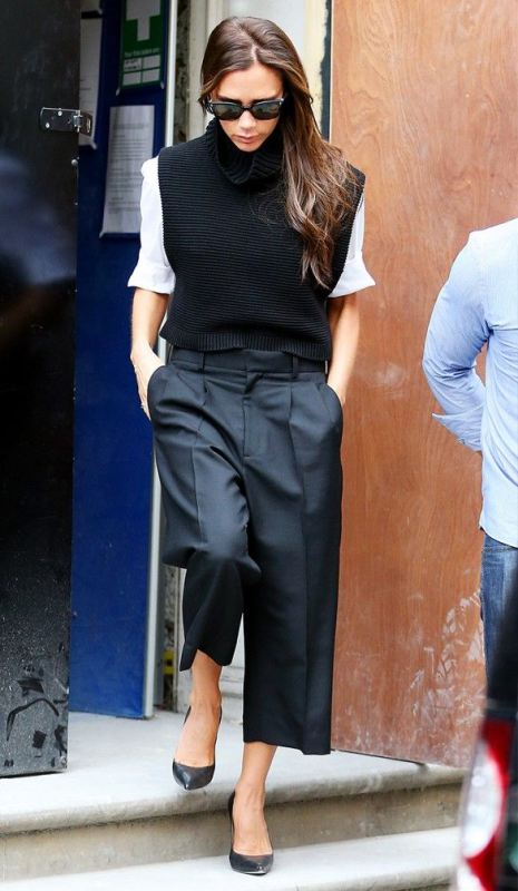 Picture Of fashionable and trendy ways to wear culottes this spring  9