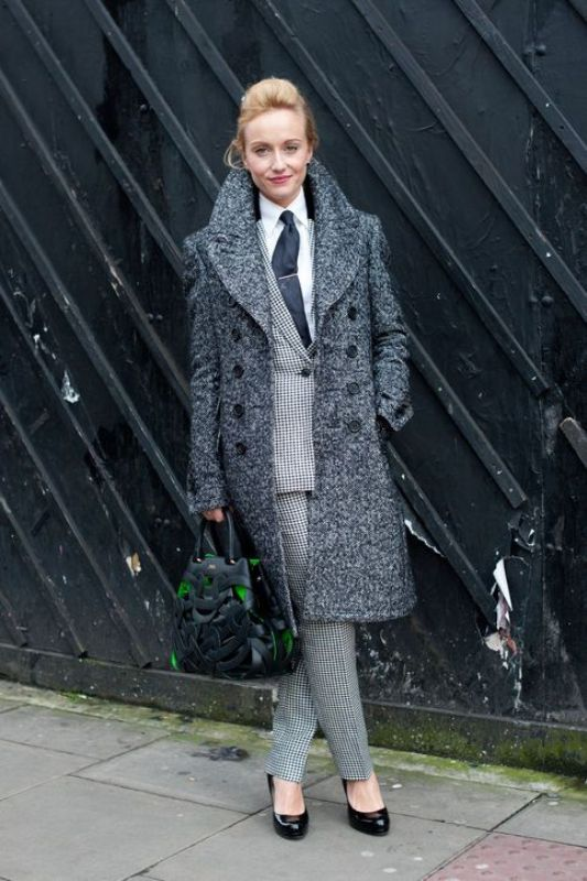 Picture Of shades of grey women office wear ideas  11