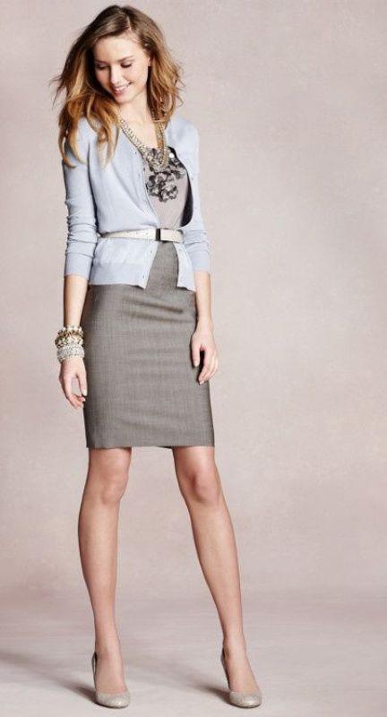 25 Shades Of Grey Women Office Wear Ideas - Styleoholic  25 Shades Of Gr...