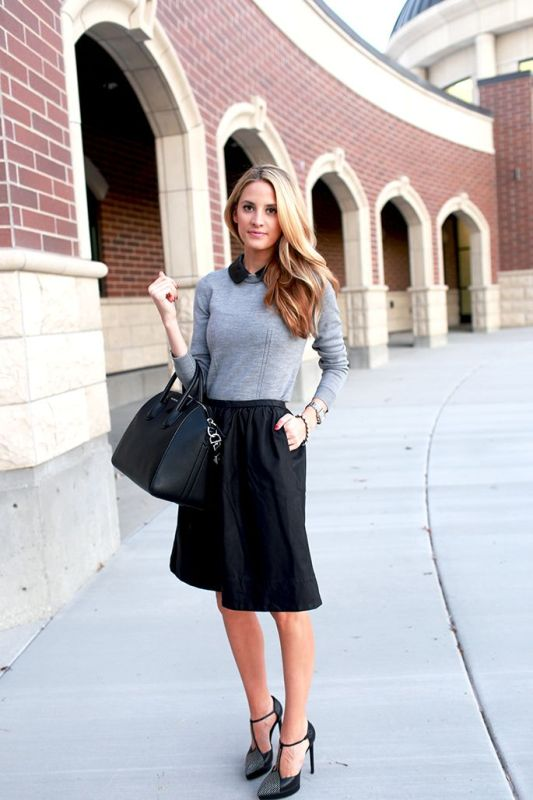 Picture Of shades of grey women office wear ideas  16