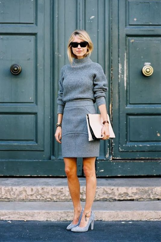 Picture Of shades of grey women office wear ideas  17