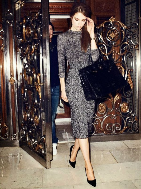Picture Of shades of grey women office wear ideas  2
