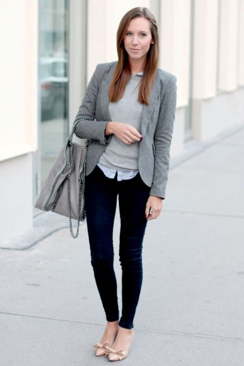 Shades Of Grey Women Office Wear Ideas