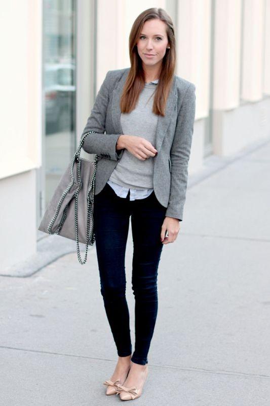 Picture Of Shades Grey Women Office Wear Ideas 20