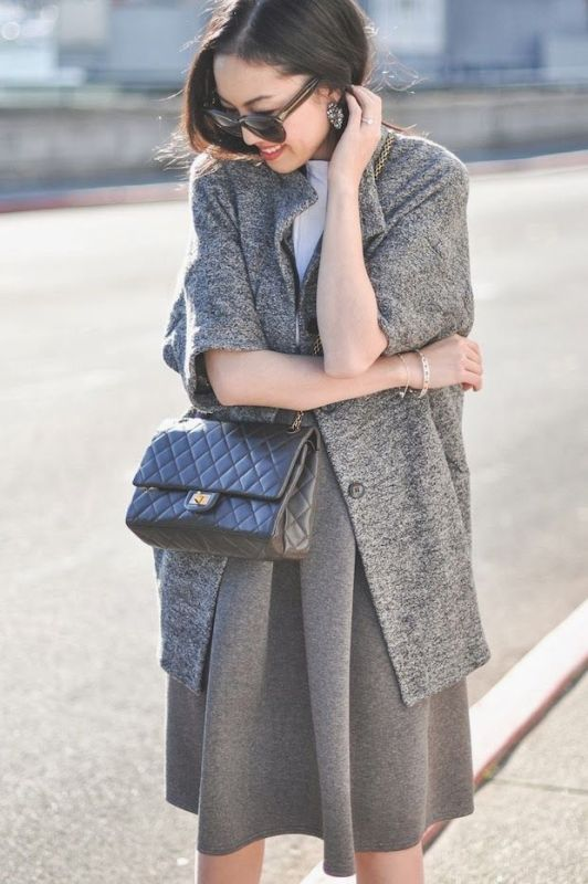 Picture Of shades of grey women office wear ideas  25