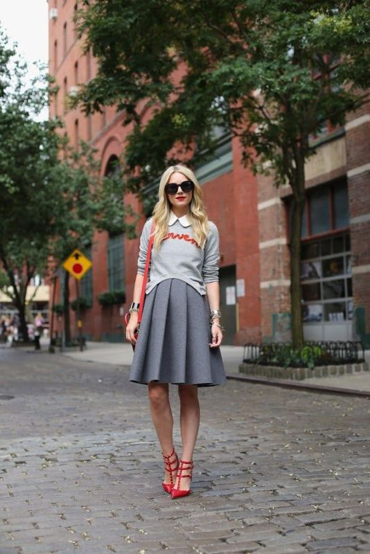 Picture Of shades of grey women office wear ideas  3