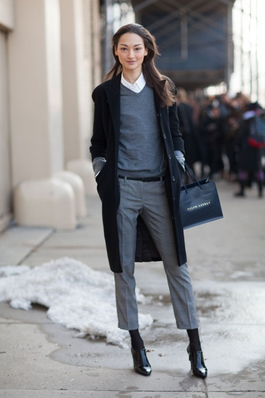 Picture Of shades of grey women office wear ideas  4