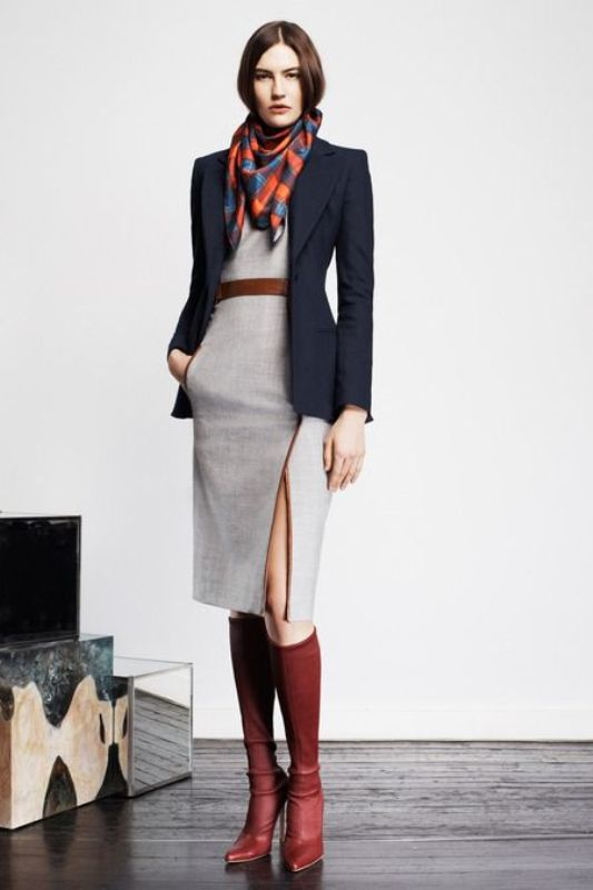 picture of shades of grey women office wear ideas 5