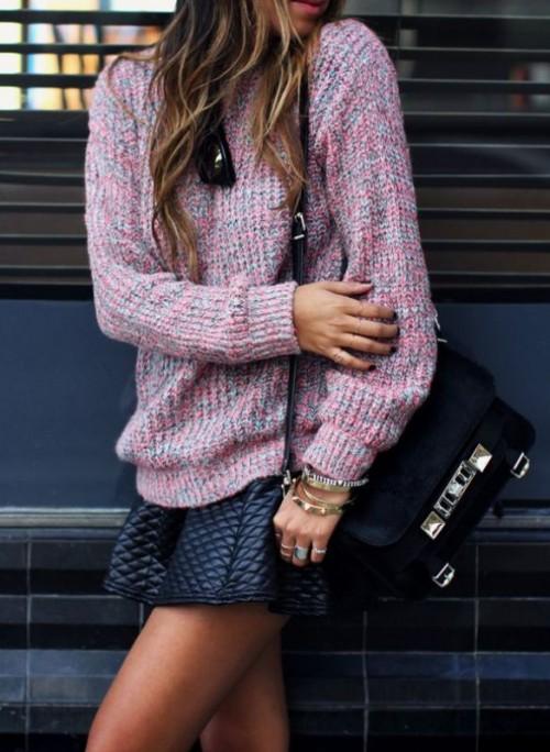 Stylish Ways To Wear A Cozy Chunky Knit Sweater