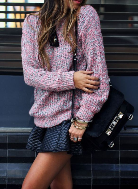 Picture Of stylish ways to wear cozy chunky knit sweater right now  11