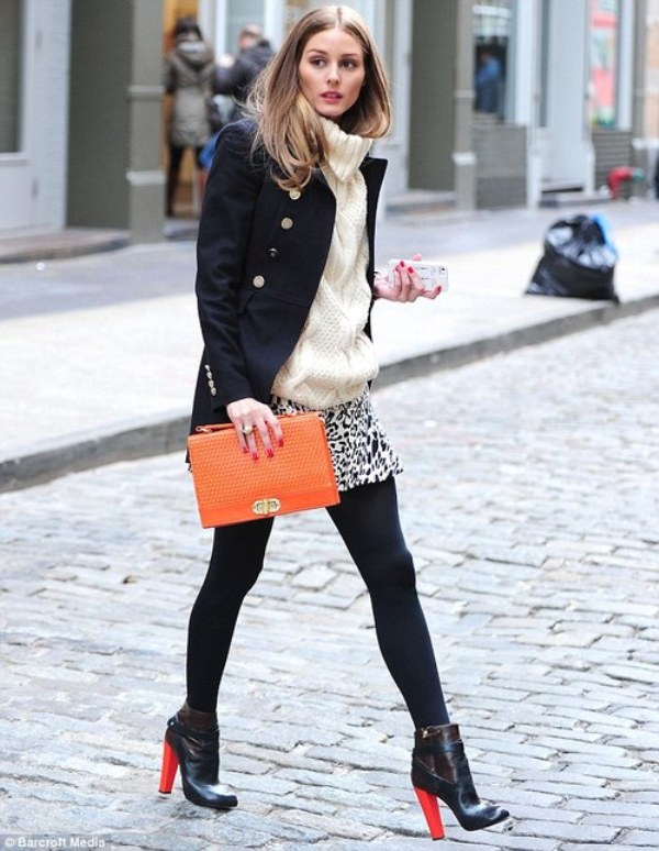 Picture Of stylish ways to wear cozy chunky knit sweater right now  14