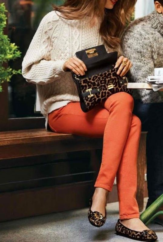 Picture Of stylish ways to wear cozy chunky knit sweater right now  19