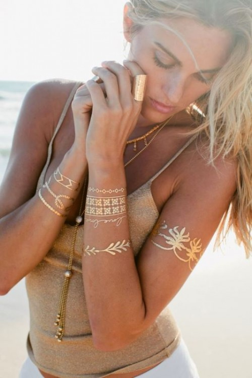 25 Trendy And Shiny Metallic Flash Tattoos To Try
