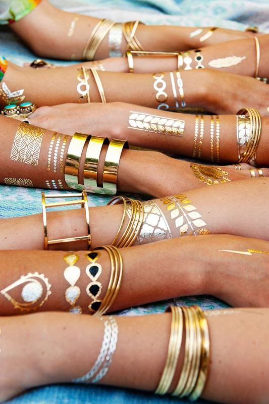 Picture Of trendy and shiny metallic flash tattoos to try  15