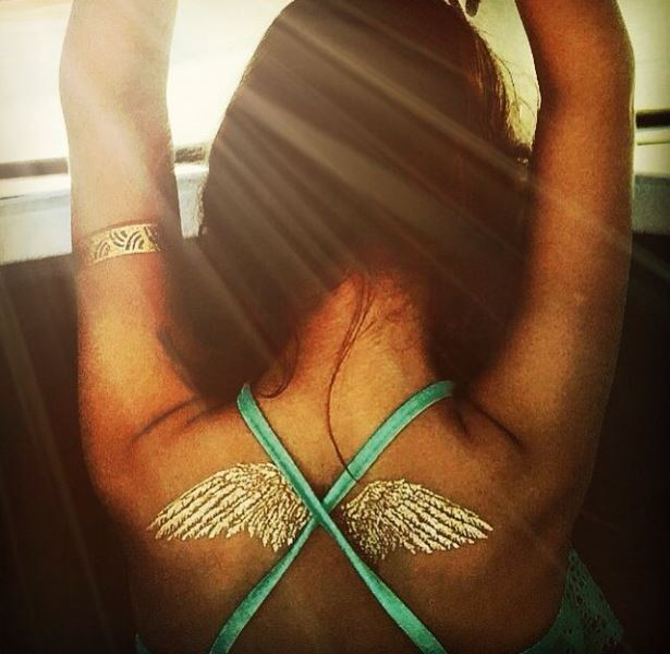 Picture Of trendy and shiny metallic flash tattoos to try  22