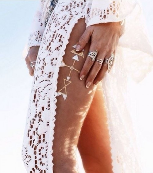 Trendy And Shiny Metallic Flash Tattoos To Try