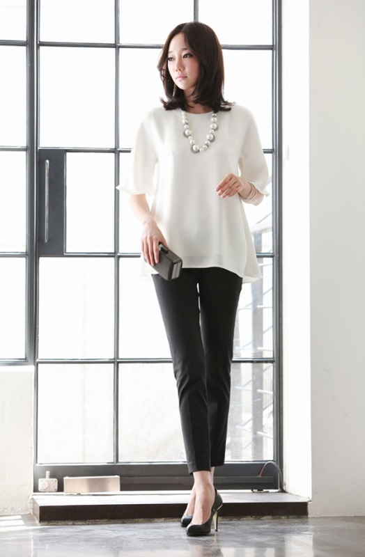 Picture Of not boring chic and ladylike classic work attire  14