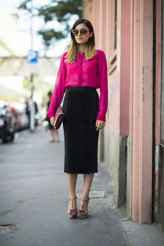 Picture Of not boring chic and ladylike classic work attire  15