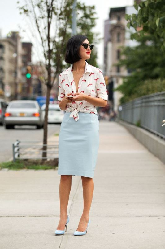 Picture Of not boring chic and ladylike classic work attire  16