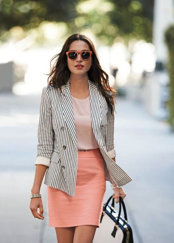 Picture Of not boring chic and ladylike classic work attire  22