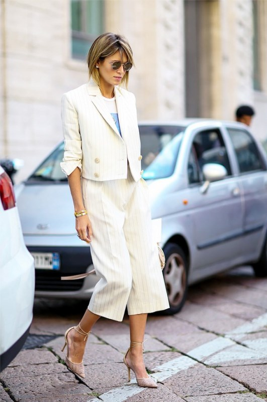 Picture Of not boring chic and ladylike classic work attire  23