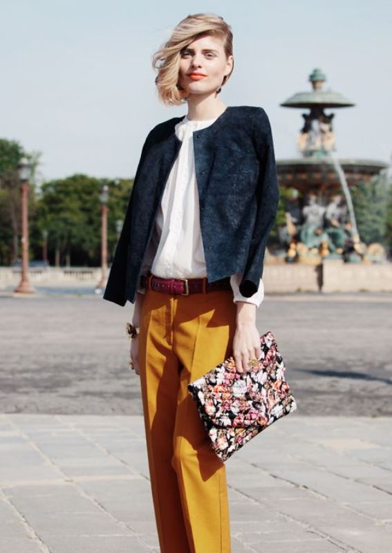Picture Of not boring chic and ladylike classic work attire  25