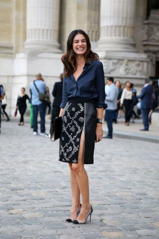 Picture Of not boring chic and ladylike classic work attire  6
