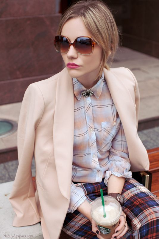 Picture Of stylish ways to wear plaid  23