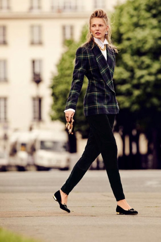 Picture Of stylish ways to wear plaid  27