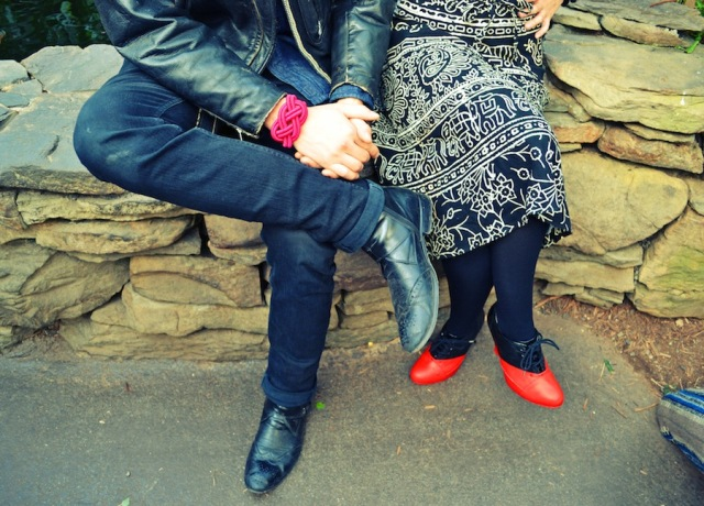 Picture Of Adorable DIY Viktor & Rolf Inspired Red And Black Booties 10