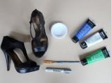 Amusing DIY Polka Dot Sandals