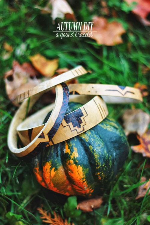 DIY Fall Natural Jewelry – A Gourd Bracelet