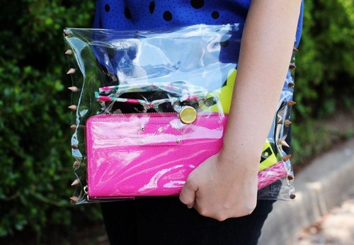 Awesome DIY Clear Clutch