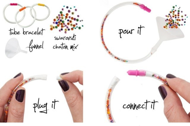 Picture Of Awesome DIY Crystal Tube Bracelet 2