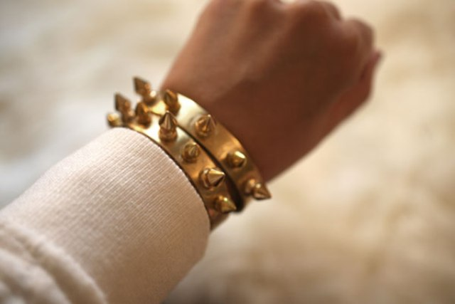 Picture Of Awesome DIY Spike Cuffs 6