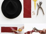 Awesome DIY Spiked Hat Band3