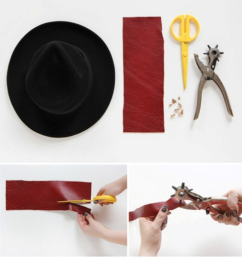 Awesome DIY Spiked Hat Band