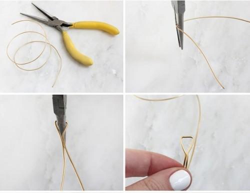 Awesome DIY Triangle Wire Bracelet
