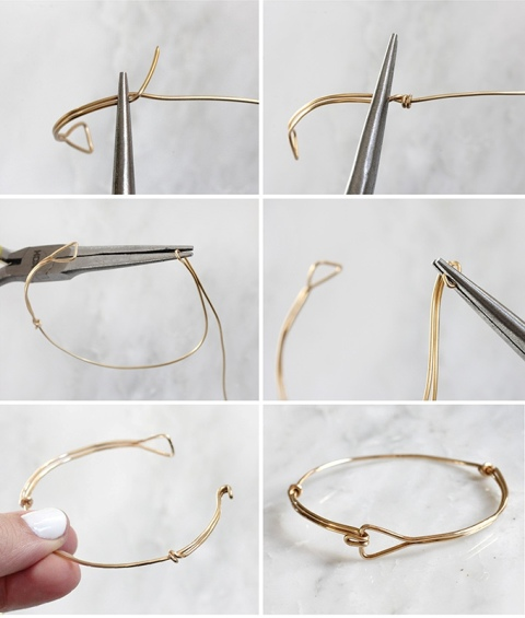 Awesome DIY Triangle Wire Bracelet - Styleoholic