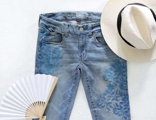 Boho Chic DIY Floral Print Denim