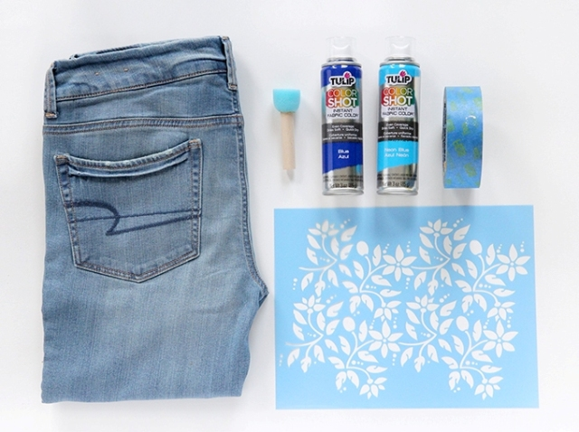 Picture Of Boho Chic DIY Floral Print Denim 2