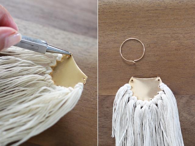 Picture Of Boho DIY Brass Fringe Earrings 8